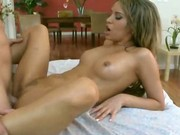 Dirty Blonde On Massage Table