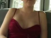 Dirty Blonde In Backseat