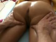 Slut put on table for sex