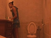 Voyeur amateur movie from toilet