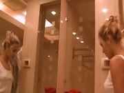 My beautiful blonde girlfriend peeing