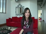 Asian ladyboy does an interview