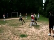 Trannies playing soccer
