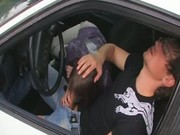 Sex on the car with new girl