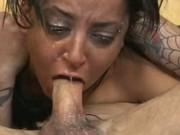 Latina throat fucked slut