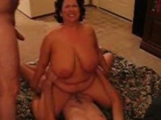 Hubby shares his busty wife with a hump date