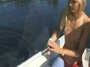 Hardcore blowjob on boat