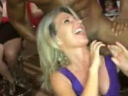Happy women love to watch cocks dance