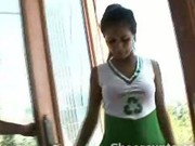 Cute cheerleader dick sucking