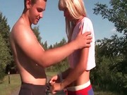 Outdoor teen fucking