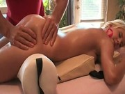 Awesome blond with great body gets massage by gotcreeped