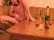 Drunk teen rubbing one out