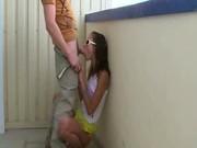 My girlfriend get fucked on the balcony