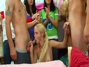 College teens do a little face sitting and cock sucking