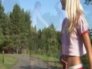 Perfect outdoor teen fucking