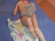 Sleepy teen rubbing her pussy