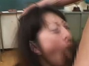 Asian bukkake cum swallowing