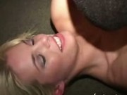 Blonde college girl banged