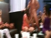 Bachelorettes suck male stripper