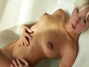 Very hot blonde masturbation in the bath