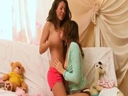 Horny lesbians in action