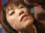 Kinky japanese bukkake cum play