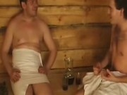 Russian orgy in sauna