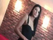 Brunette super model teasing nude