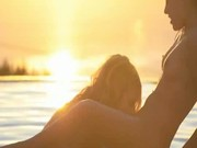Hot lesbians in sunset