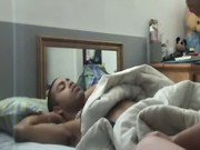 Sucked by girlfriend in home video