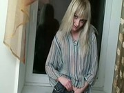 Russian blonde stripping
