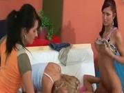 Chick undresses her boyfriend