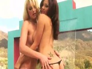 Two hot young girls get naked