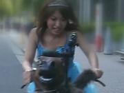 Anri Hiramatsu Asian babe rides the orgasm bike 1 by WeirdJP