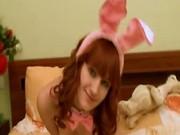 Sweet playboy rabbit masturbating