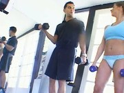Fucking session in the gym
