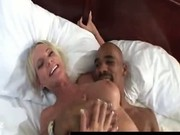 Big tits slutty MILF loves being fucked by big black cocks