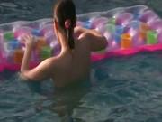 Masturbation in the pool