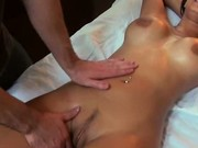 Big Titty Brunette Babe Fucked On Massage Table