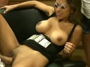 Big Titty Brunette Amateur Fucked In A Store