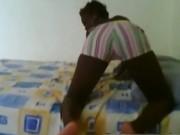 Hantee dancing reggaeton at home on webcam 4 EbonyExposed