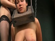 Check out this bizarre fetish with cute brunette babe