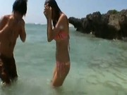 Hot asian babe Akina gets fuck on the beach 1 by outdoorjpn