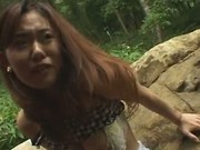 Amateur Pretty Asian babe fucked in the park by her boyfriend 4