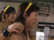 Amateur Asian girls play naked basketball 3 by JPflashers