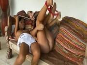Sunburned babes making lesbian sex