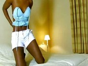 Hot Black Babe dancing Naked on the bed 1 by EbonyExposed