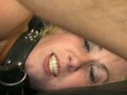 Blonde slut gets her ass drilled and cum all over her face