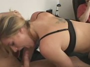 Husband sells wife to pay bills as he watches her suck on anothe