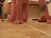 Perfect ass Amateur Emo girlfriend in the bathroom naked 2 by em
